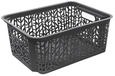 BranQ Basket Bamboo Dark Gray