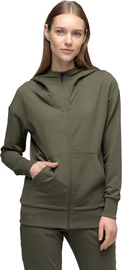 Audimas Soft Touch Modal Zip-Through Hoodie Olive Night XS