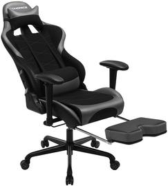 Spēļu krēsls Songmics Racing, melna/pelēka