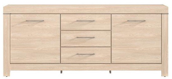 Black Red White Chest Of Drawers Gent 85x200x45cm Oak