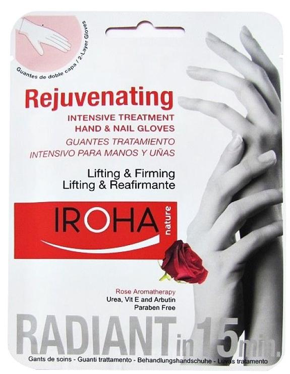Iroha Nature Rejuvenating Hand Glove Mask 2x9ml Rose