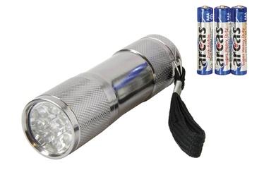Taskulamp Arcas 9 LED +3xAAA patareid