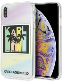 Karl Lagerfeld Signature Liquid Glitter Sequins Back Case For Apple iPhone XS Max Black