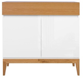 Black Red White Kioto Chest Of Drawers 40x97x88.5 cm White Oak