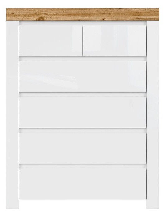 Black Red White Holten Chest Of Drawers White