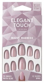 Elegant Touch Nails With Glue Mauve Madness