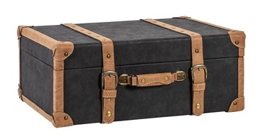 Home4you Oswald Trunk L 67x45x26cm Black