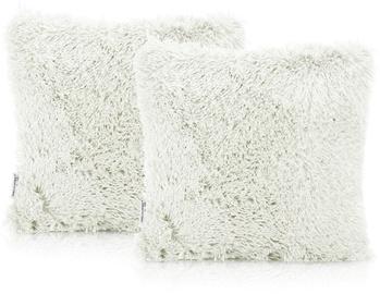 AmeliaHome Karvag Pillowcase 45x45 Ivory 2pcs