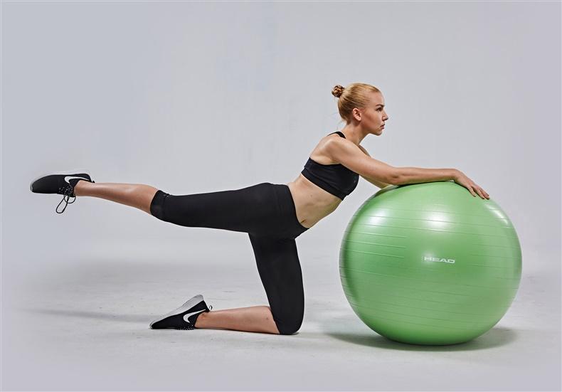 Nesprogstantis gimnastikos kamuolys Head HA757, Ø 85 cm, su pompa