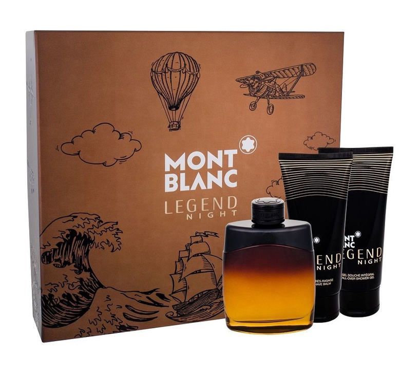 Mont Blanc Legend Night 100ml EDP + 100ml Shower Gel + 100ml Aftershave Balm