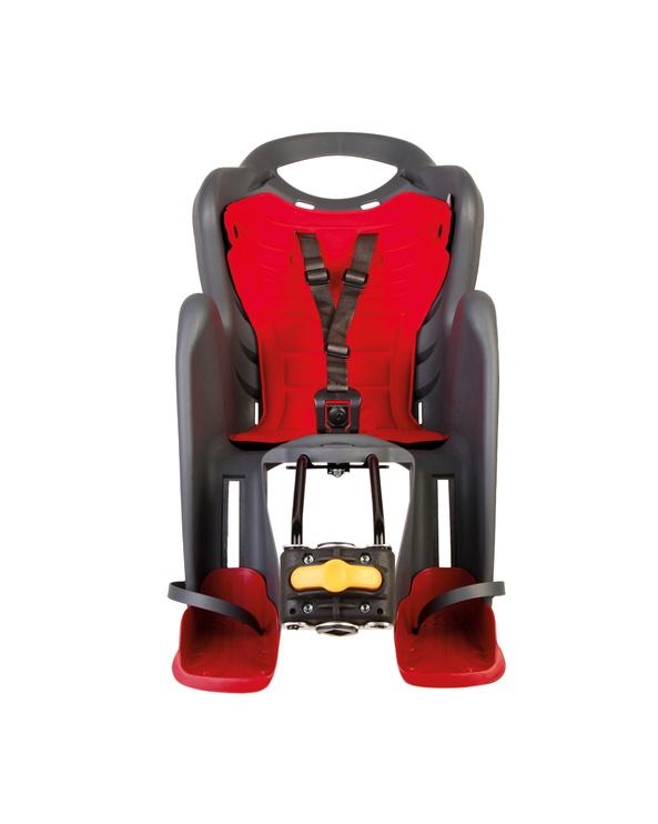 Детское кресло для велосипеда Bellelli Mr Foxstandard Multifix MULTIFIX01FXS00002, красный, задняя