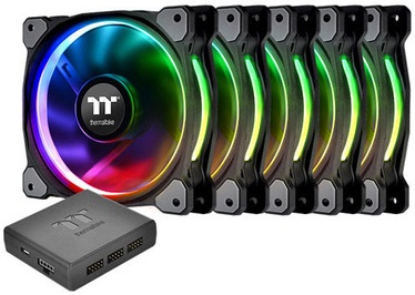 Thermaltake Riing Plus 12 LED RGB Radiator Fan TT Premium Edition 5-Pack CL-F054-PL12SW-A
