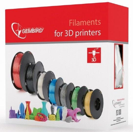 Расходные материалы для 3D принтера Gembird 3DP-PLA, 330 м, черный