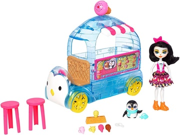 Mattel Enchantimals Wheel Frozen Treats Preena Penguin Doll & Playset FKY58