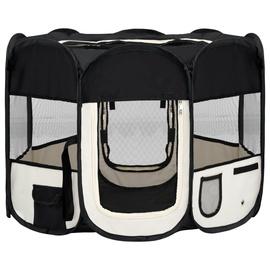 Аксессуары для дрессировки животных VLX Foldable Dog Playpen, белый/черный