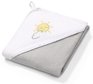 Dvielis BabyOno Terry Hooded Grey, 100x100 cm