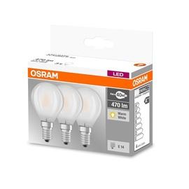 SPULDZE LED GLASS P40 4W E14 WW FR 3VNT (OSRAM)