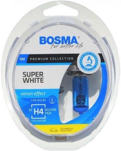 Автомобильная лампочка Bosma H4 12V 60/55W Super White Light Bulb 2pcs