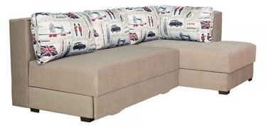Bodzio Corner Sofa Judyta Velor Right Beige/London1
