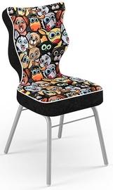 Детский стул Entelo Solo Size 4 ST28, черный/многоцветный, 340 мм x 775 мм