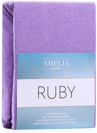 Voodilina AmeliaHome Ruby, violetne, 180x200 cm, kummiga