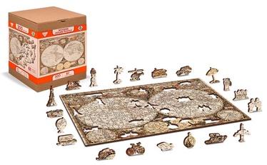 3D пазл Wooden City Antique World Map, 300 шт.