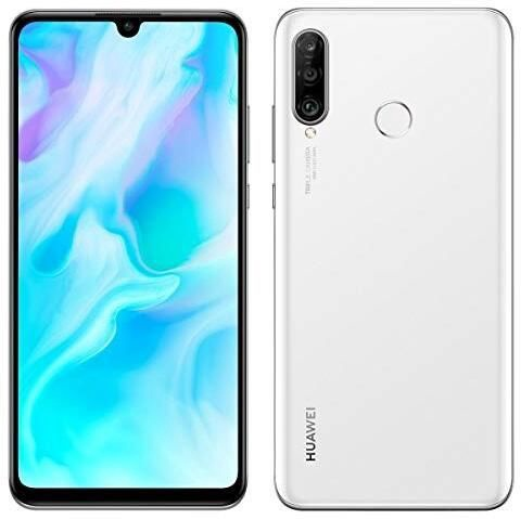 Mobilusis telefonas Huawei P30 Lite, baltas, 4GB/128GB