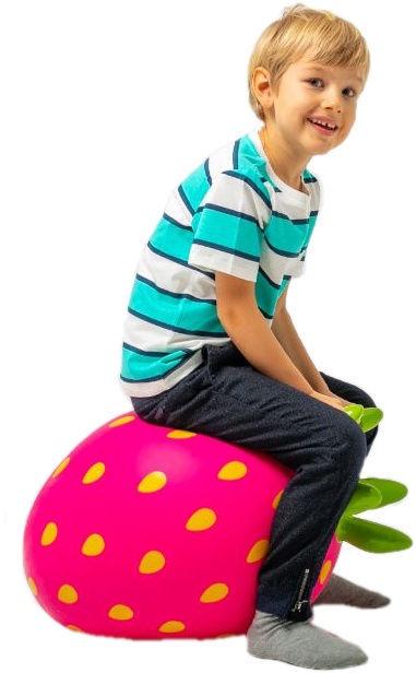 Šokinėjimo kamuolys Gerardos Toys Jumpy Fuits rožinė braškė