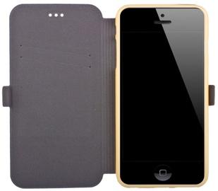 Telone Super Slim Shine Book Case Samsung i9080/i9060 Galaxy Grand Neo Gold