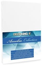 Palags DecoKing Amelia White, 160x200 cm, ar gumiju