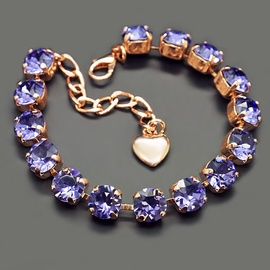Diamond Sky Bracelet Classic Tanzanite With Swarovski Crystals