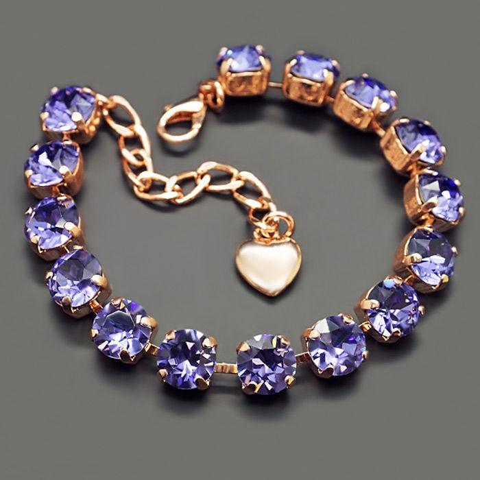 Diamond Sky Bracelet Classic Tanzanite With Swarovski Crystals