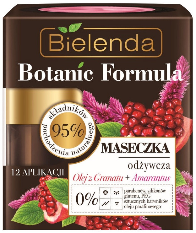 Bielenda Botanic Formula Pomegranate Oil + Amaranth Face Mask 50ml
