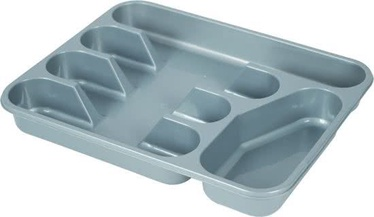 Plast Team Cutlery Tray With 5 Spaces 33.5x26.4x4.6cm Grey