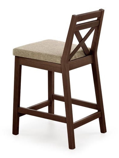 Барный стул Halmar Borys Low Walnut, 1 шт.
