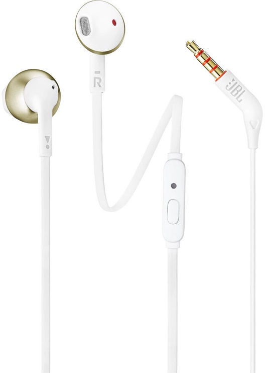 Ausinės JBL T205 Earbuds Champagne Gold