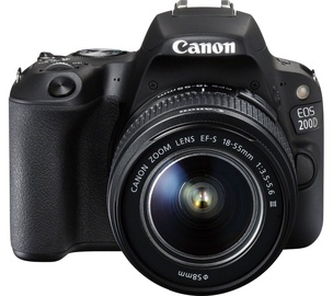 Canon EOS 200D + EF-S 18-55mm f/3.5-5.6 IS STM Black