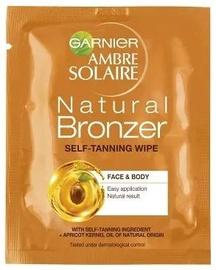 Garnier Ambre Solaire Natural Bronzer Self Tan Wipes 1pcs
