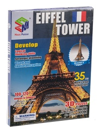 3D mīkla Magic Puzzle World's Great Architecture Eiffel Tower B668-2, 35 gab.