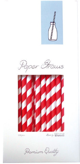 Barkonsult Paper Straws Red 100pcs
