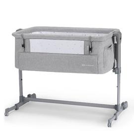 KinderKraft Neste Up Bedside Crib Grey Melange