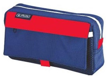 Herlitz Pencil Pouch With 2 Add.Bags Blue & Red