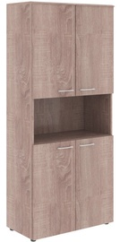 Biuro spintelė Skyland Wave WHC 85.4 Sonoma Oak, 856x1949x4323 mm