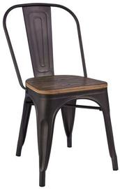 Ēdamistabas krēsls Signal Meble Loft Dark Walnut/Graphite, 1 gab.