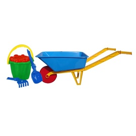 SN Sandbox Toy Wheelbarrow With 5 Accessories