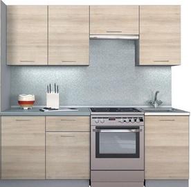 MN Kitchen Unit Simpl 2.1m With Shelve Shimo Light