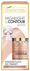 Bielenda Highlight & Contour Face Brightener 15ml Peach - Peach