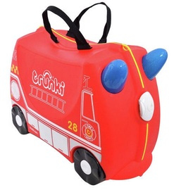Koferis Trunki Frank The Fire Truck, zila/melna/sarkana, 18 l, 210x460x310 mm