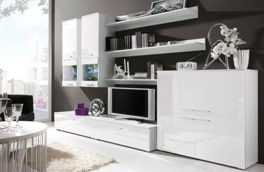 Cama Meble Modular System Como With Lights White
