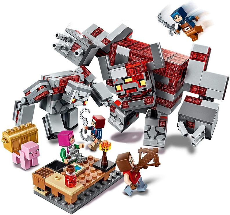 Konstruktorius LEGO Minecraft 21163 Raudonojo akmens mūšis